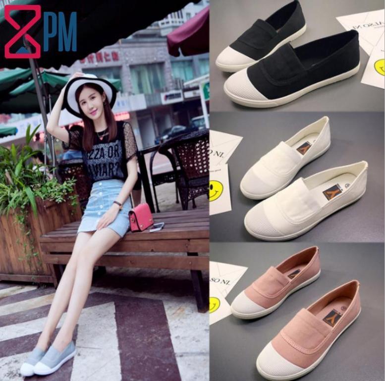 Giày Nữ Slipon Vải Giá Rẻ Cho Học Sinh Sinh Viên G0101 giá rẻ