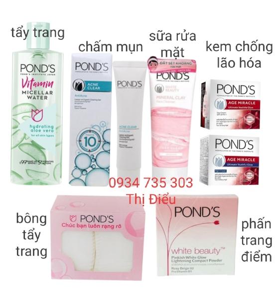 Bộ 7 sản phẩm chăm sóc da Pond và Trang điểm Ponds giá rẻ