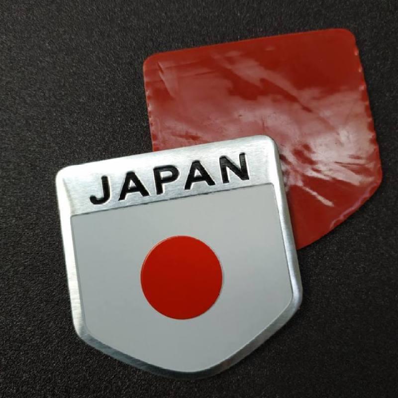 Tem Nhôm Cờ Nhật Bản Dán Trang Trí Xe Ô Tô - Hình khiên