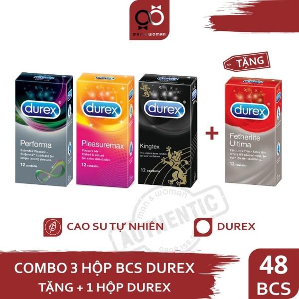 COMBO 4 HỘP BCS DUREX 48 BCS + GEL KY 50G giá rẻ