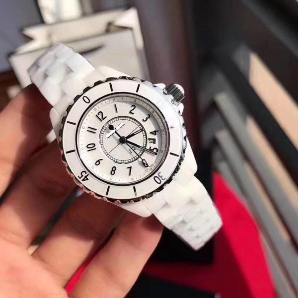 Đồng hồ nữ CNEL dây đá ceramic màu đen/trắng  - size 34mm(DNHJ12BW) bán chạy