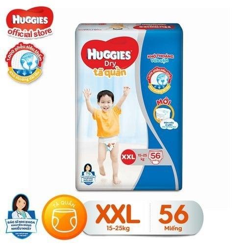 Tiết Kiệm Cực Đã Khi Mua Tã Quần Huggies Size XXL 56 Miếng Cho Bé 15=25kg