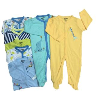 Set 2 áo liền quần sơ sinh có tất Baby Gear cho bé trai thumbnail
