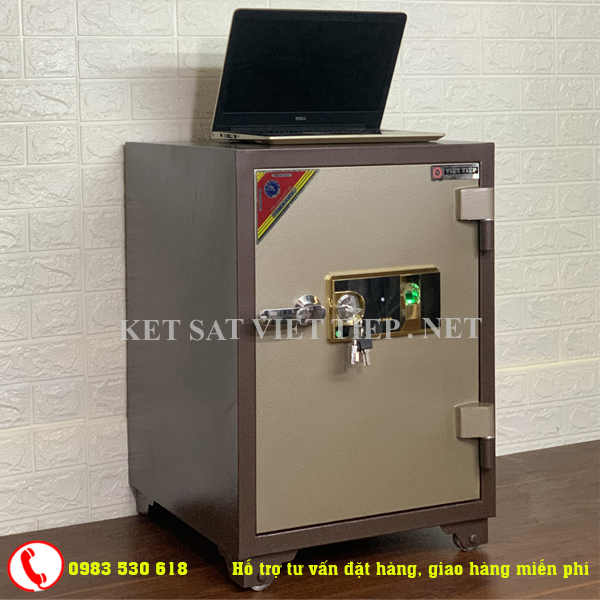 [CHINH HANG]Két sắt vân tay Việt Tiệp cao cấp V166- 90kg