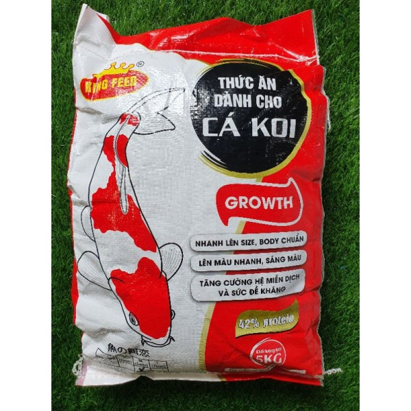 cám cá koi king feed, thức ăn cá koi 42% đạm bao 5kg