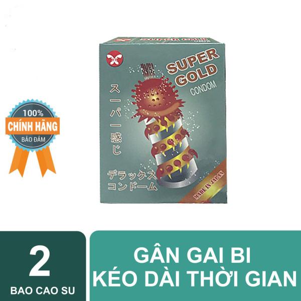 Bao Cao Su Gân Gai Bi Super Gold hộp 2 cái