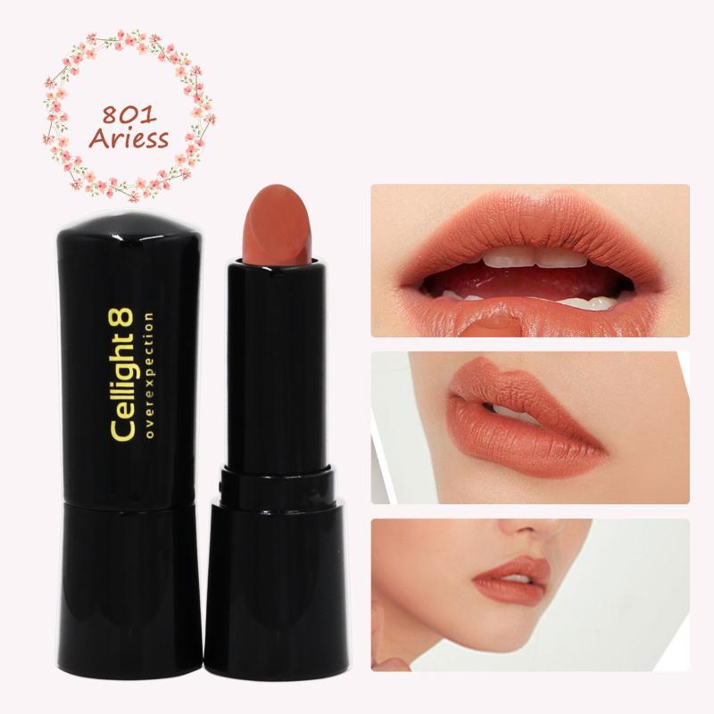 Son môi mini thiên nhiên không chì Cellight 8 Eco Lipstick - 801 - Ariess - Cam Đất