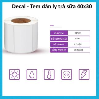 Decal Tem dán ly trà sữa 40x30 1 Cuộn thumbnail
