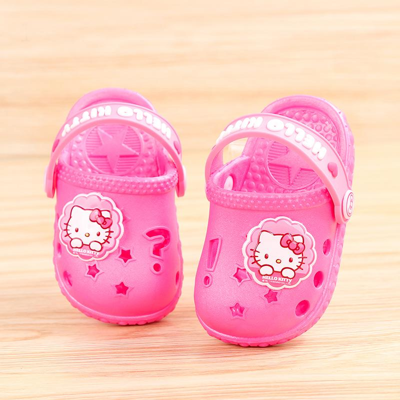 9684ca5b7 Hello kitty Summer Children Sandals Girls Cute Baby Children's Soft Bottom  Anti-slip Porous Female