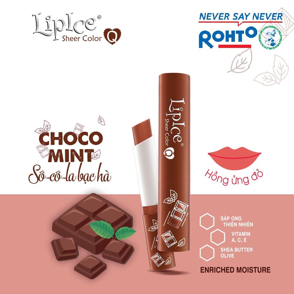 Son dưỡng Lipice Sheer Color Q Choco Mint 2.4g (Hồng tự nhiên)