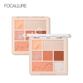 Focallure Cake Makeup Palette High Pigment Glitter Matte Shimmer Eyeshadow Blush Highlighter Soft Texture Seven Colors 1pc 90g thumbnail