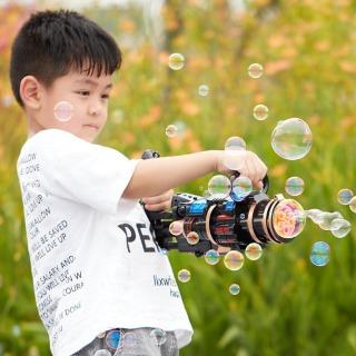 Súng máy bắn phun thổi Bong Bóng Xà Phòng LOẠI TO ngầu 8 nòng đồ chơi ngoài trời cho bé an toàn không lo bẩn tay mới nhất HOT 2021 thumbnail