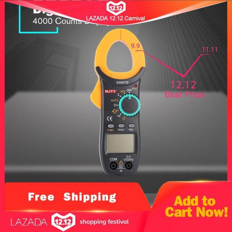 LALISE Kẹp Kỹ thuật số Đồng Hồ Đo 3266TD DC/AC Volt Amp Ohm Diode NCV Vạn Năng Kế Vạn Năng Kế