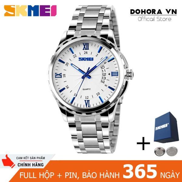 Nơi bán Đồng hồ nam Skmei 9069 có lịch ngày chống nước 30m dây thép không gỉ cao cấp