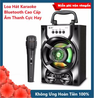 Loa Bluetooth GS13 Xách Tay Loại 1 Âm Thanh Hay Siêu Trầm, Hát Karaoke, Led Nháy Theo Nhạc, Loa Không Dây Hỗ Trợ Thẻ Nhớ, USB Nghe Nhạc EDM, REMIX, Nhạc Vàng, Bolero Cực Hay Hỗ Trợ Điện Thoại, Máy Tính Bảng, Laptop - XSmart thumbnail