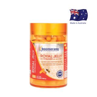 Viên uống sữa ong chúa & collagen Boomerang Royal Jelly And Collagen (120 viên) thumbnail