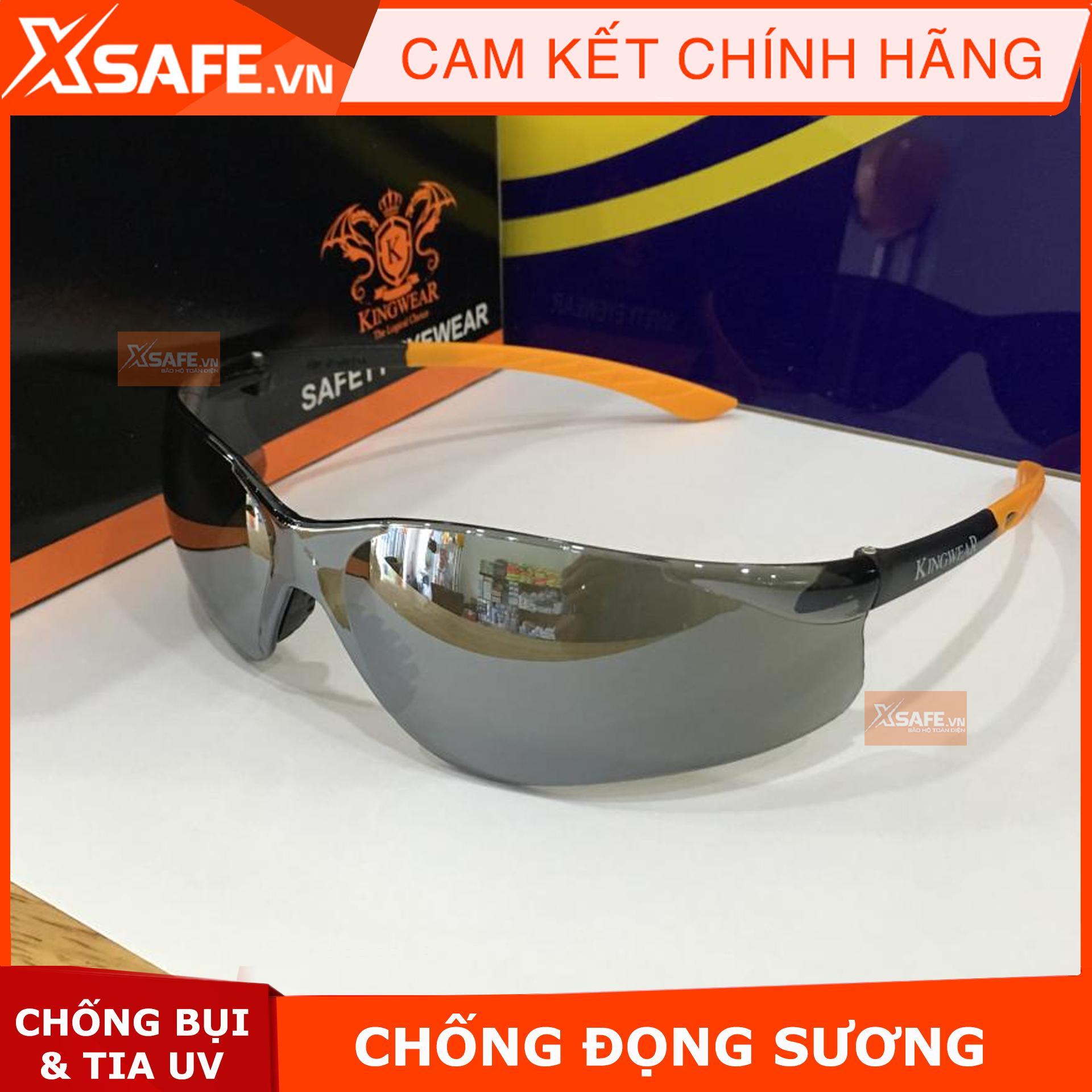 Kính bảo hộ lao động Kings màu đen KY2224 - Kính bảo vệ mắt không đọng sương