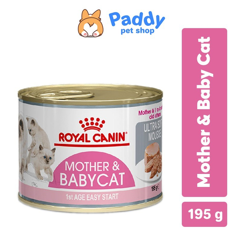 Pate Cho Mèo Royal Canin Mother & Babycat Dạng Lon 195g