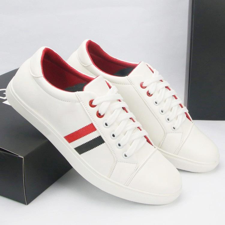 Giày Thể Thao Nam Màu Trắng Kẻ Sọc Thời Trang Elmee E0142- Giày Sneaker Kiểu Dáng Unisex Cá Tính