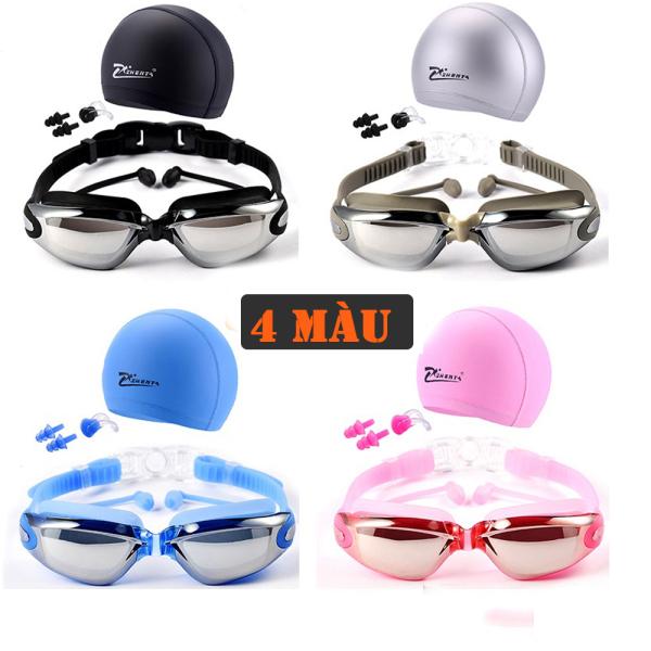 [Combo kính + mũ] Kính bơi người lớn, kính bơi trẻ em có bịt tai, Kính Bơi Hàn Quốc Phoenix, kính bơi tráng gương chống lóa, chống mờ, chống tia UV. Góc nhìn rộng, độ bền cao giúp quan sát rõ ràng đường bơi