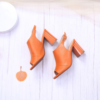Giày Giả Boot Sapo 7cm Đế Vuông Hở Mũi Pixie X639 thumbnail