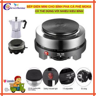Combo Bếp điện mini 500w pha cà phê ,trà ,nấu nước Và Bình pha cafe Moka Pot 300ml , ấm pha cà phê -Có phân loại bán riêng bếp điện mini và bình pha cà phê thumbnail