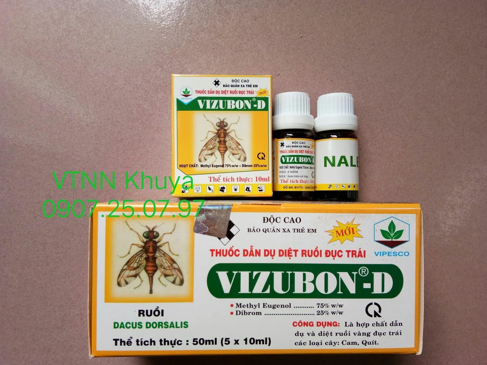 Thuốc dẫn dụ diệt ruồi đục trái VIZUBON D