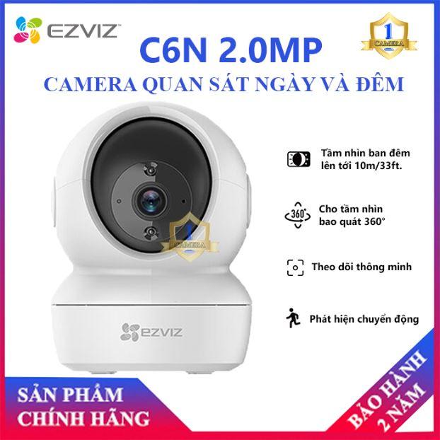 [CHÍNH HÃNG] Camera IP Wifi EZVIZ CS- C6N (1080P) 2.0MP Xoay 360 Thông Minh - Camera Không dây WIFI + Đàm Thoại 2 Chiều - Camera số 1