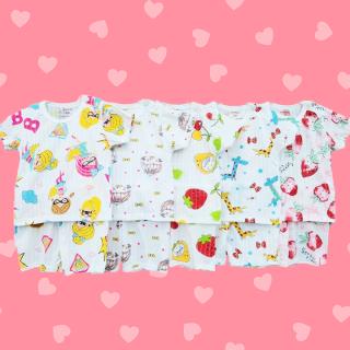 [CÓ CẬP NHẬT MẪU MỚI] Bộ cotton giấy cộc tay chui đầu cho bé trai và bé gái 2-13kg chất thun co giãn thông thoáng đủ họa tiết màu sắc BBShine BVN002 thumbnail