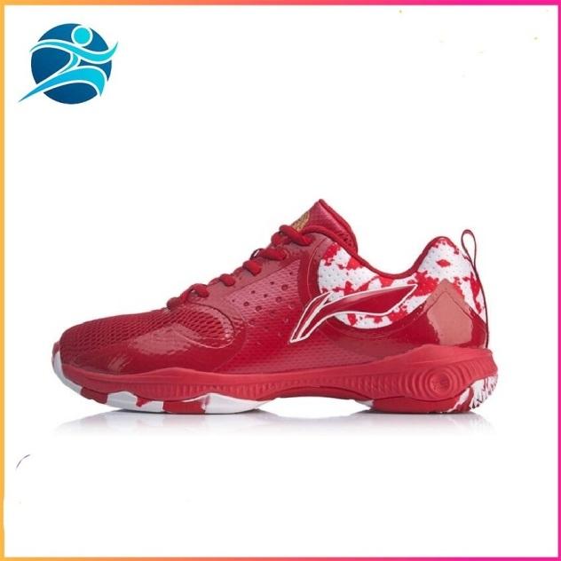 Giày cầu lông Lining AYTQ011-2 mẫu mới, dành cho nam, màu đỏ - Giày cầu lông nam - Giày chơi bóng chuyền - Bsport giá rẻ