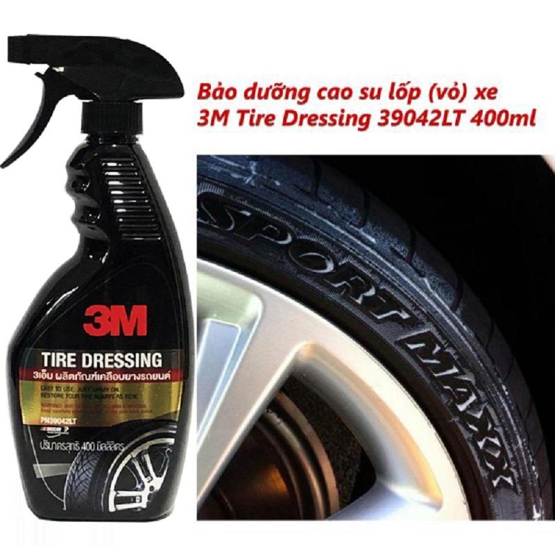 Bảo dưỡng lốp vỏ xe ô tô 3M Tire Dressing 39042LT 400ml