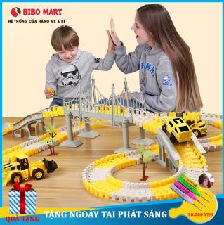 Đồ chơi trẻ em, Bộ đồ chơi lắp ráp đường ray ô tô tàu lượn gồm nhiều chi tiết lựa chọn phát triển trí tuệ và khả năng sáng tạo cho bé thumbnail