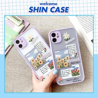 Ốp lưng iphone Thiệp hoa bảo vệ camera dành cho iphone 6 6S 6Plus 6SPlus 7 7Plus 8 8Plus X XS XR Xsmax 11 11pro 11Promax - ShinCase v33 thumbnail