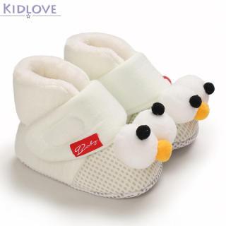 Kidlove Giày Bé Trai Bé Gái, Bốt Đi Tuyết Cho Mùa Thu Giày Đế Mềm Cho Bé Tập Đi Lông Cừu Bằng Cotton Ấm Áp Mùa Đông