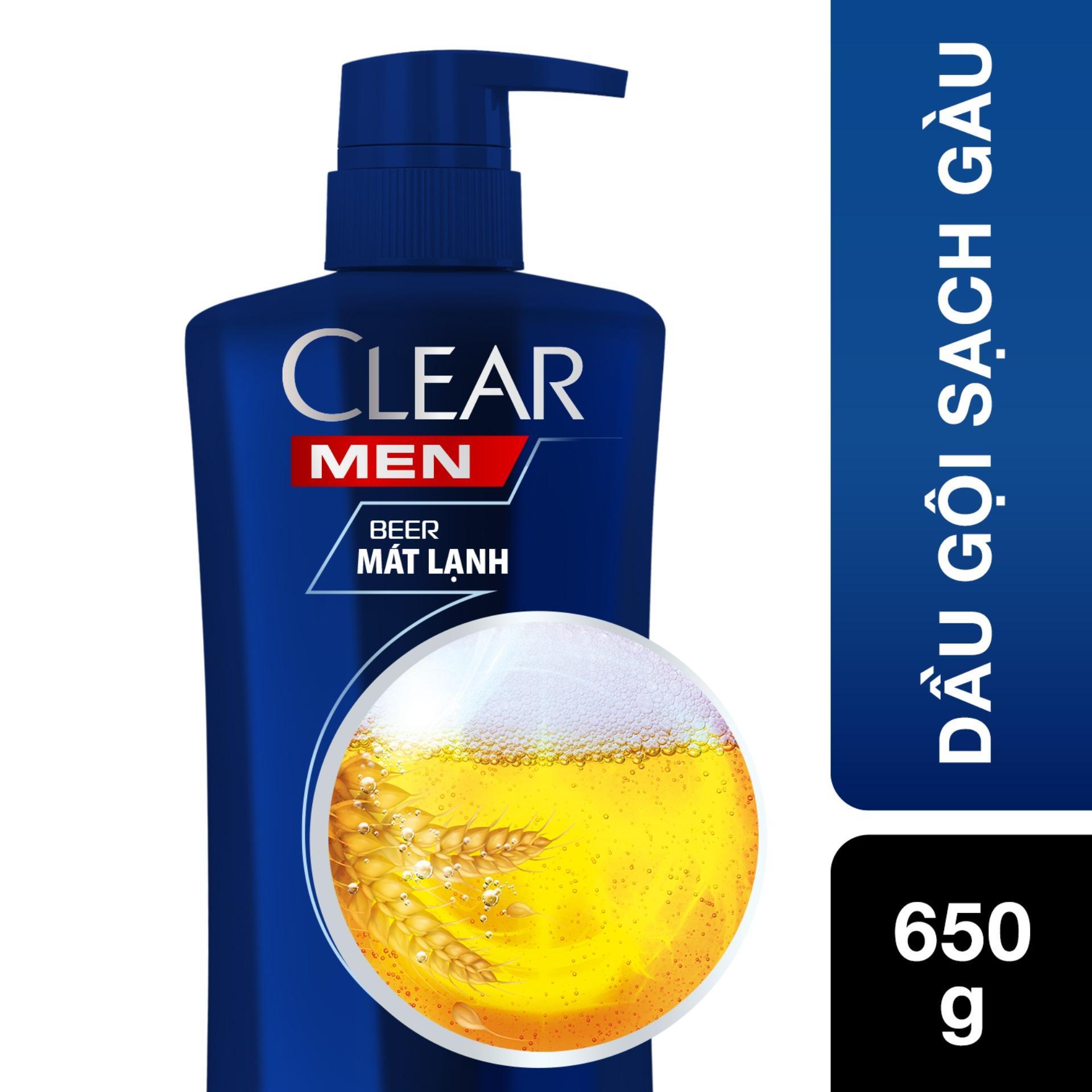 Dầu gội sạch gàu dành cho nam CLEAR Men Beer Mát Lạnh 650g tốt nhất