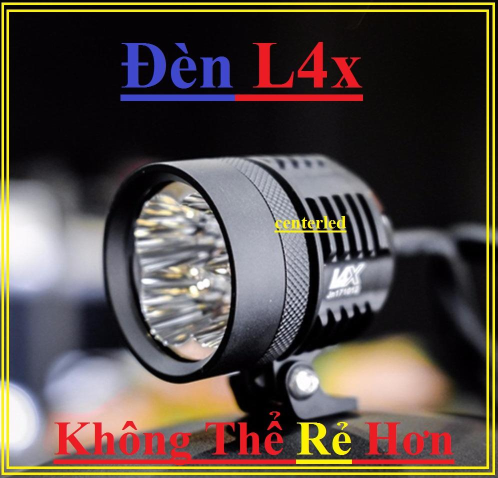 [ Tặng công tắc ] Đèn trợ sáng L4x , đèn pha led xe máy ô tô bảo hành 6 tháng