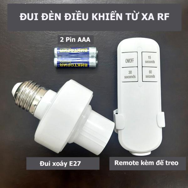 Bảng giá [ĐUI MẪU MỚI] Đui đèn điều khiển từ xa E27- đuôi đèn điều khiển từ xa rf