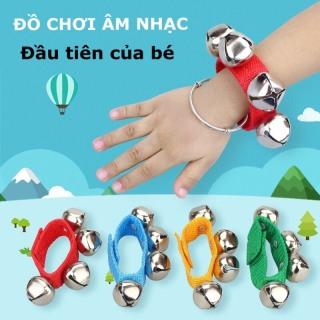 1 ĐÔI đồ chơi âm nhạc lục lạc đeo cổ tay giúp kích thích phát triển trí não và giác quan cho bé từ 0 đến 3 tuổi thumbnail