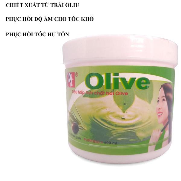 Dầu Hấp Ủ Tóc Tinh Chất Trái Olive 500Ml (Trắng Xanh) Chất Lượng Tốt Auth Đẹp Bền Giá Rẻ Hàng Xuất Khẩu Cao Cấp Hữu Dụng 2020 giá rẻ
