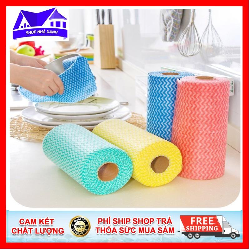 Khăn vải không dệt lau nhà bếp, được làm bằng chất liệu cottonliên kết chặt với sợi xenlulo theo mô hình kim cương nên khăn lau rất bền