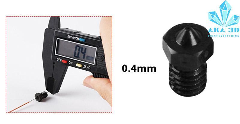 Giá Đầu phun máy in 3D, đầu phun 3D E3DTitan Aero Hotend V6 0.4mm.