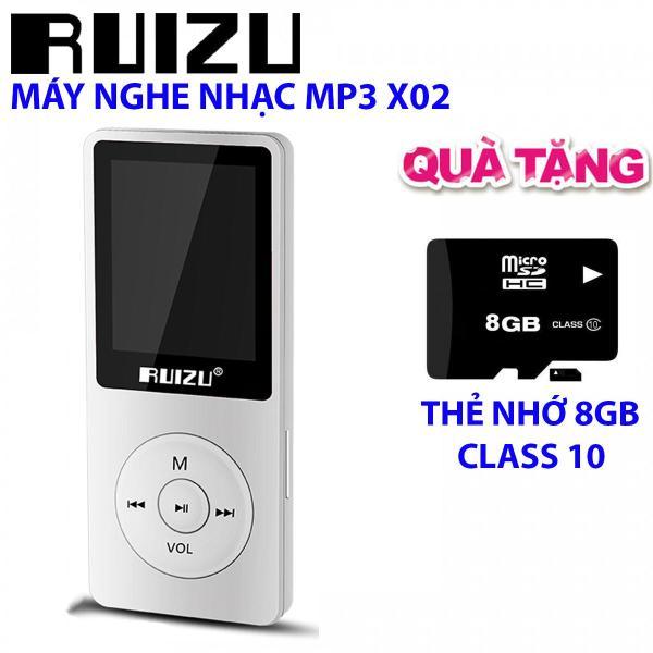 Máy Nghe Nhạc Mp3 cao cấp Ruizu X02 + Tặng thẻ nhớ 8Gb Class 10