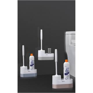 Kệ nhà vệ sinh toilet oenon treo dụng cụ cọ rửa nhà tắm lắp đặt dính tường - luwc - hình 2