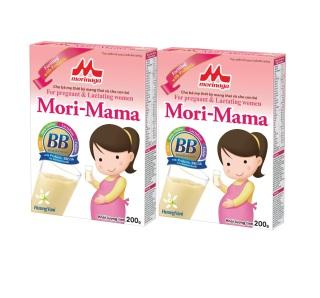 Combo 2 hộp Sữa bầu Morinaga Mori-Mama dành cho phụ nữ thời kỳ mang thai và cho con bú 200gr date T7.2021 thumbnail