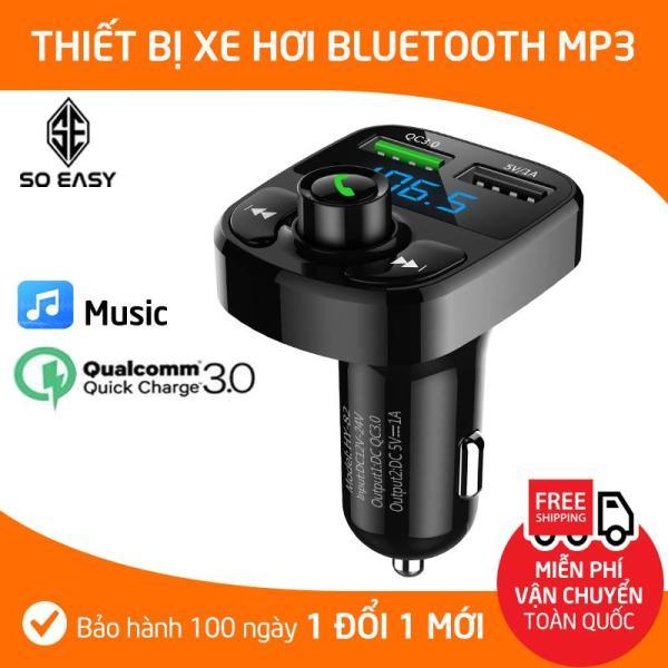 Dock, Tẩu, Cốc MP3 Cho Xe Hơi, Xe Ôtô Kết Nối Bluetooth, Nghe Nhạc, Sạc Pin, Nghe Điện Thoại Rãnh Tay, sang trọng nhỏ gọn (MP3) -Đen