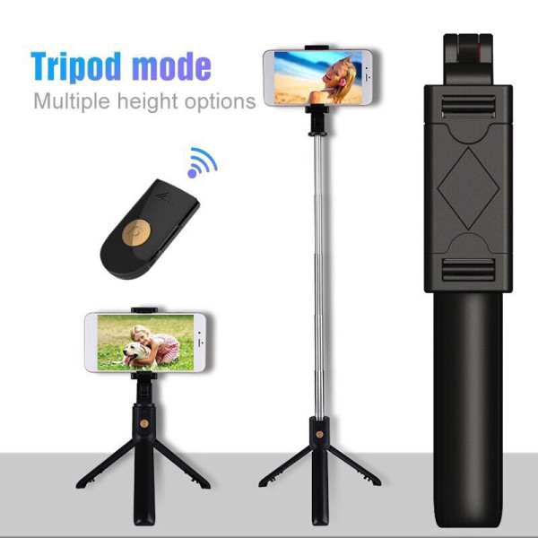 - XẢ KHO BÁN LỖ - Gậy chụp hình tự sướng kiêm giá đỡ điện thoại Tripod K07 , ke-m tay điê-u khiê-n Remote Bluetooth 3.0, Gậy tự sướng, gậy selfie, gậy chụp ảnh giá re, Gậy chụp hình selfie bluetooth cao cấp cực kì cứng cáp K07 [Ngọc Nam]