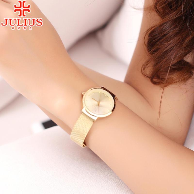 Đồng hồ Nữ Julius JU1052 siêu mỏng (Vàng)