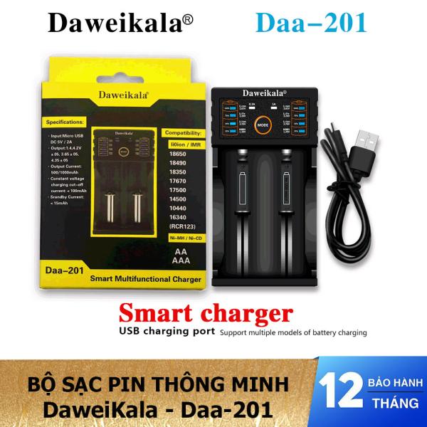 Giá Bộ sạc pin thông minh 2 cổng DaweiKala Daa-201 - Sạc pin đa năng kiêm đo pin  - Hàng chính hãng - Lii-PL4