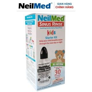 Bình(Bộ Dụng Cụ) Xịt Rửa Mũi Xoang Bé NeilMmed Sinus Rinse Paediatric Kit (1 bình 30 gói hỗn hợp muối rửa) thumbnail