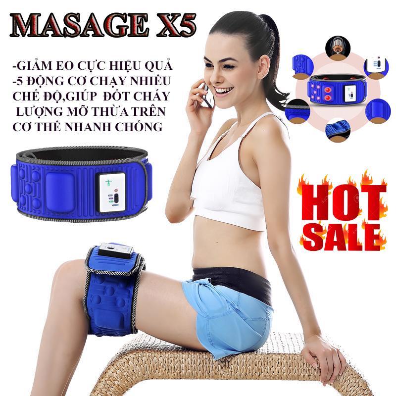 Đai Massage X5 Loại Xịn, Máy Đánh Tan Mỡ Bụng , Masage Đa Năng Cao Cấp - Bảo Hành Uy Tín 12 Tháng Trên Toàn Quốc Với Giá Sốc